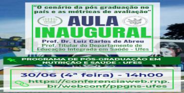 Banner da aula inaugural 2021